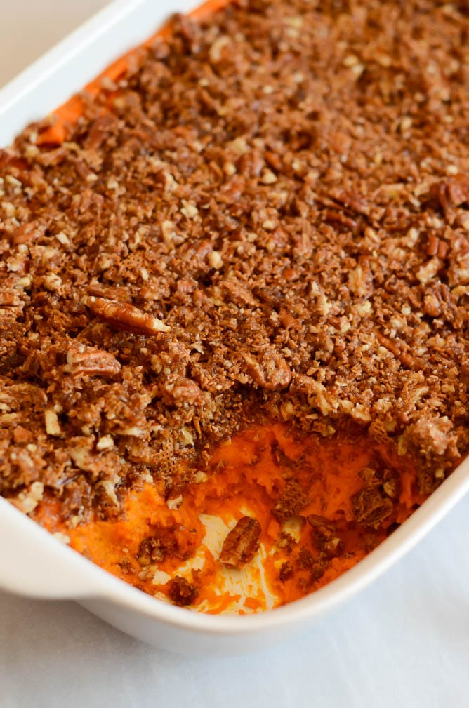 Sweet with Heat Yam Casserole | CaliGirlCooking.com