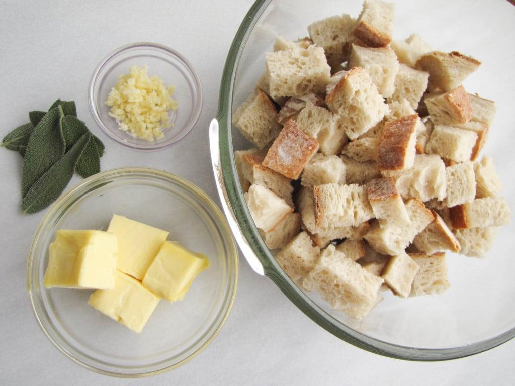 Savory Prosciutto Sage Gruyere Bread Pudding | CaliGirl Cooking