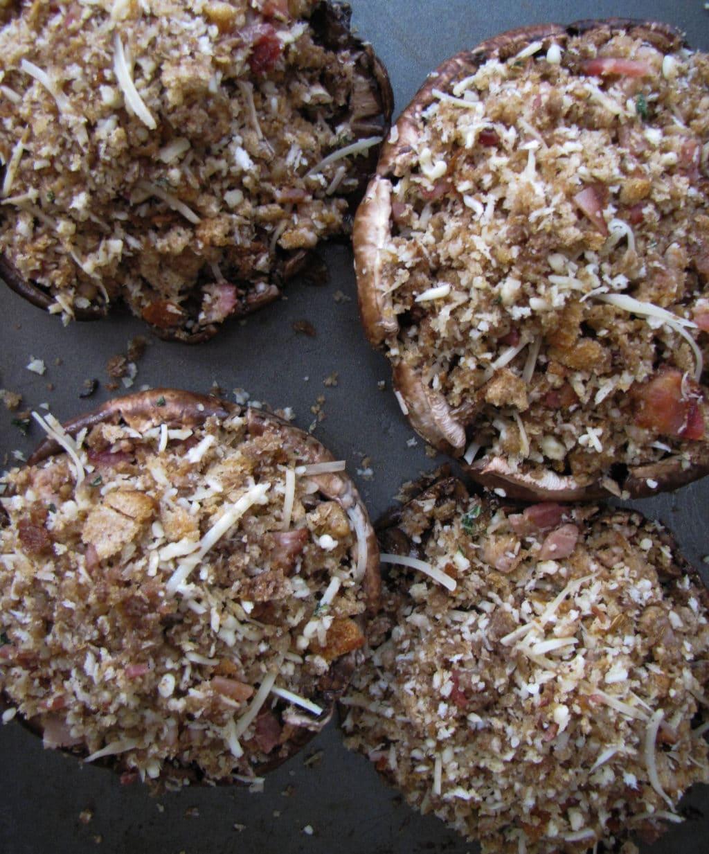 Balsamic-Marinated Stuffed Portobellos   CaliGirl Cooking
