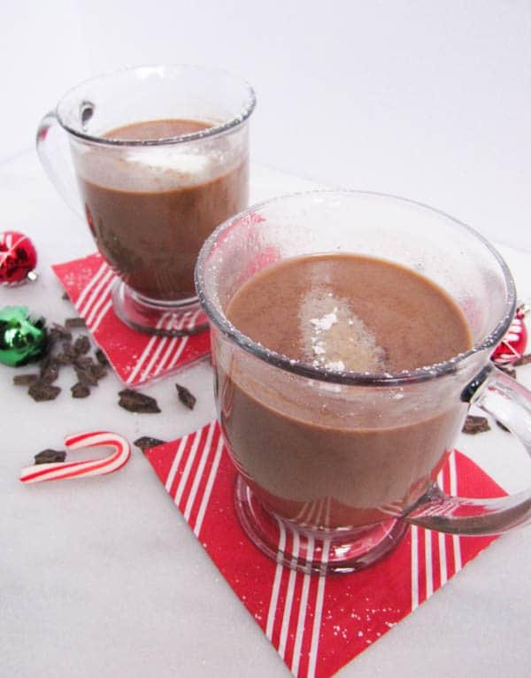 Almond Milk Eggnog Hot Chocolate | CaliGirl Cooking