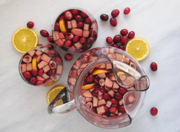 Holiday Sparkling Sangria | CaliGirl Cooking