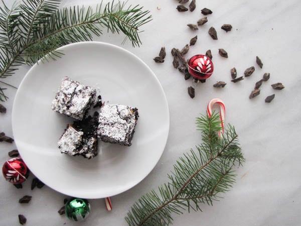 Peppermint Bark Brownies | CaliGirl Cooking