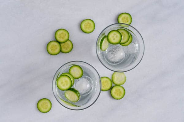 Cucumber Elderflower Gin Fizz | CaliGirl Cooking
