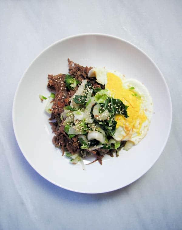Furikake Hashbrowns with Kalua Pork & Kimchi | CaliGirl Cooking