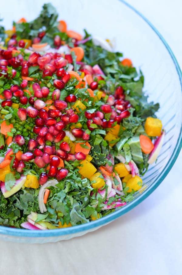 Winter Kale Salad   CaliGirl Cooking