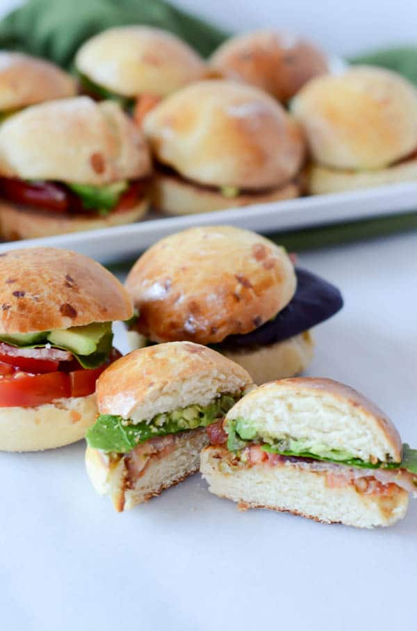 BLT Sliders with White Cheddar Brioche Buns | CaliGirl Cooking