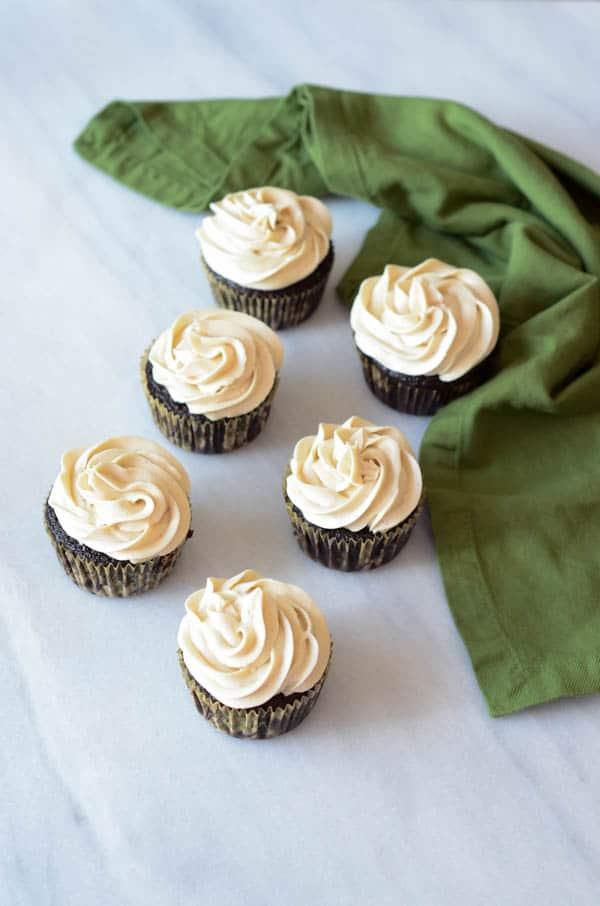 Chocolate Stout Cupcakes with Irish Cream Buttercream ...