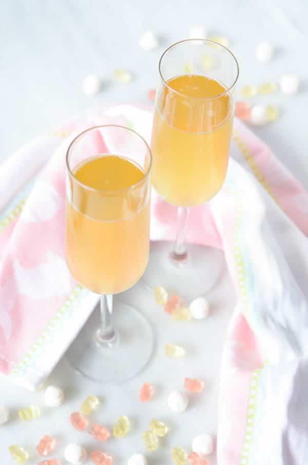 Peachy Tangerine Kombucha Mimosa | CaliGirl Cooking