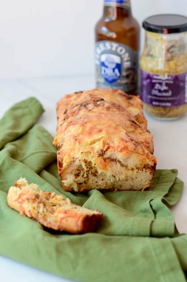 Pull-Apart Beer Bread with Comte and Whole Grain Mustard | CaliGirl Cooking