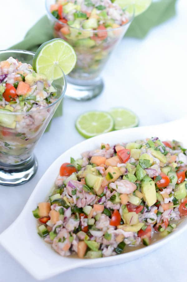 Shrimp Ceviche with Papaya | CaliGirl Cooking
