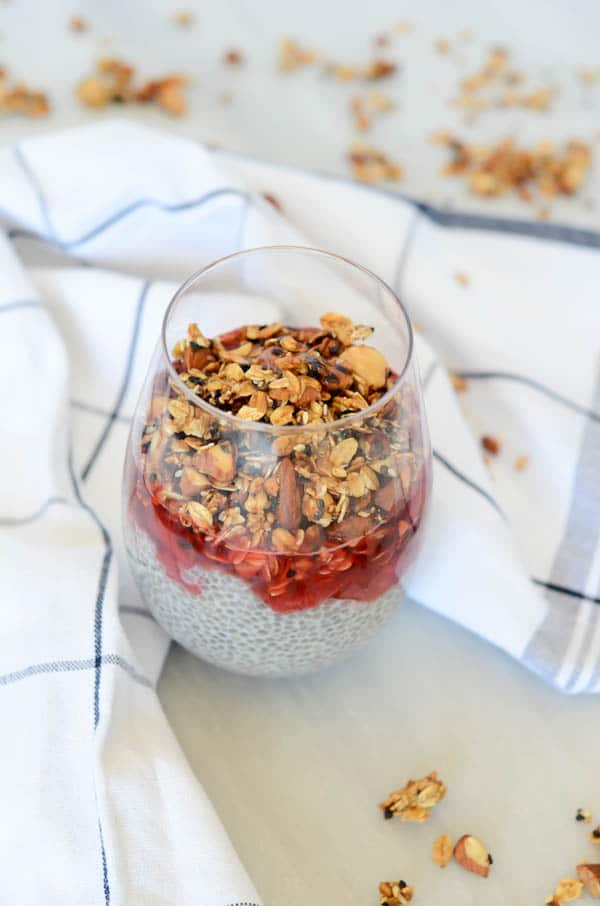 Coconut-Vanilla Chia Pudding Parfait | CaliGirl Cooking