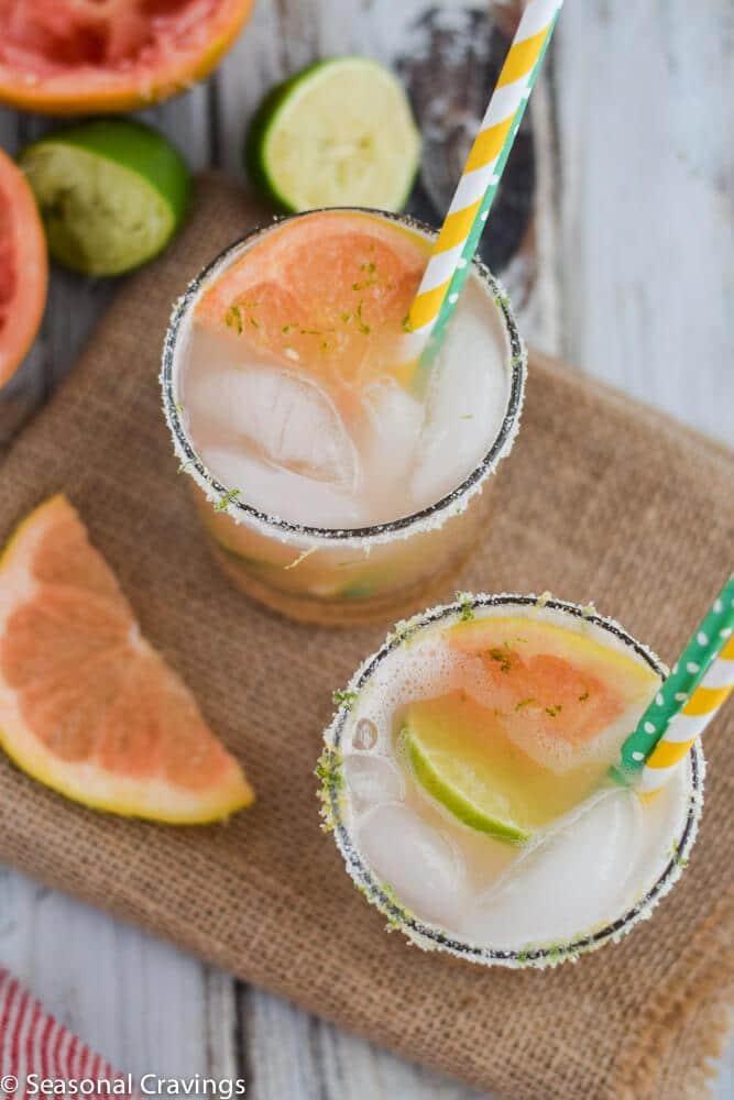 Sweet Grapefruit Margarita | Top 10 Memorial Day Cocktails from CaliGirl Cooking