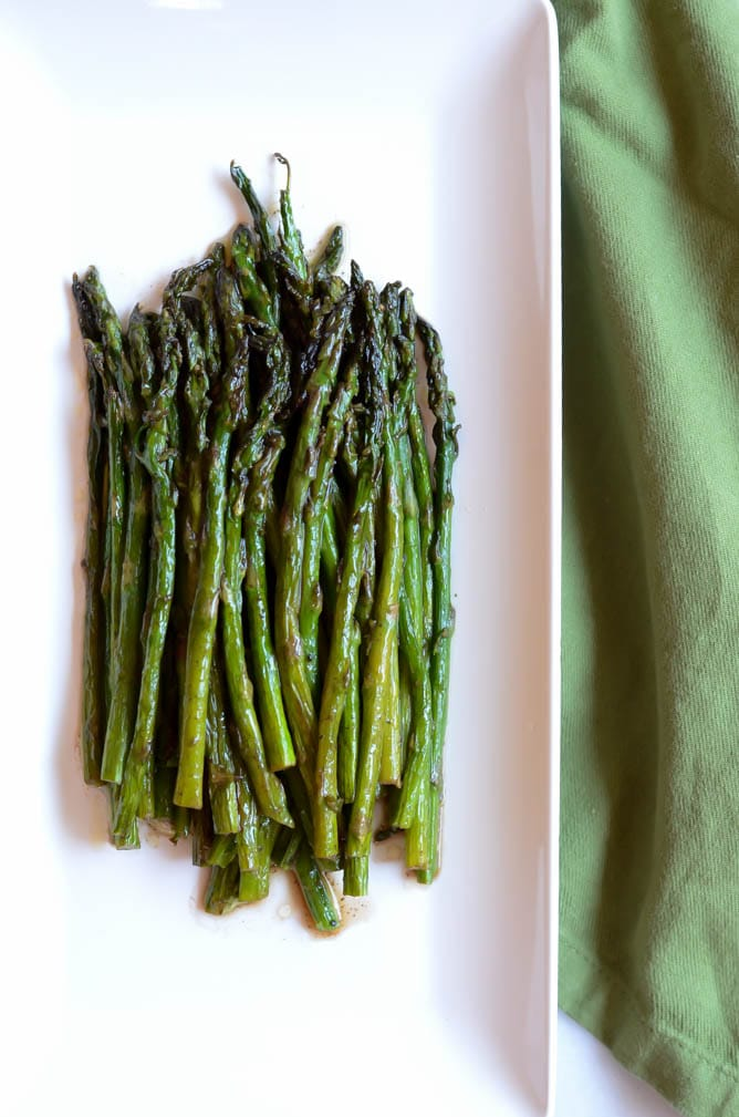 Brown Butter-Balsamic Roasted Asparagus | CaliGirl Cooking