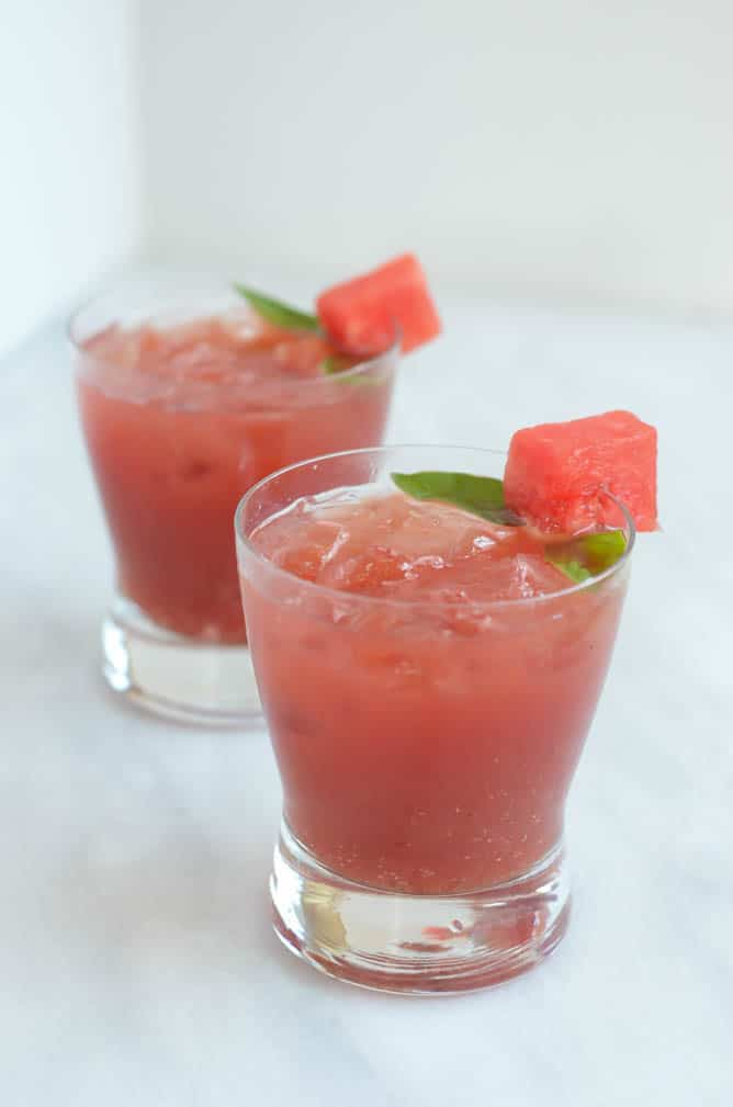 Watermelon Balsamic Basil Julep | CaliGirl Cooking
