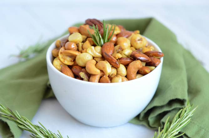 Curry-Rosemary Roasted Mixed Nuts   CaliGirl Cooking