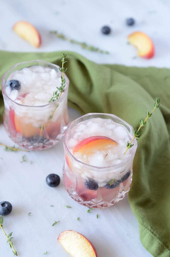 Fresh Thyme and Plum Gin Fizz | CaliGirl Cooking