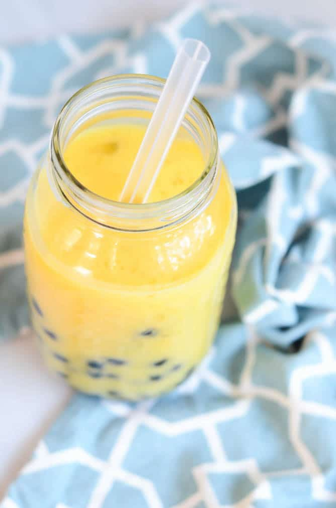 Orange-Mango-Coconut Boozy Boba | CaliGirl Cooking