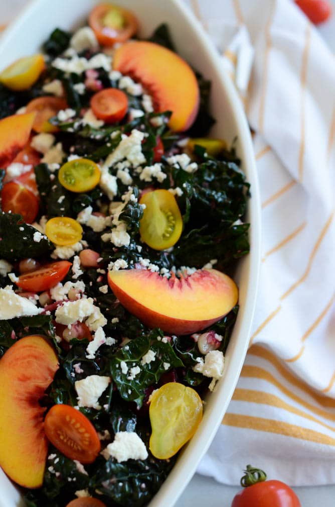 Summer Kale Salad with Grapefruit Vinaigrette | CaliGirl Cooking