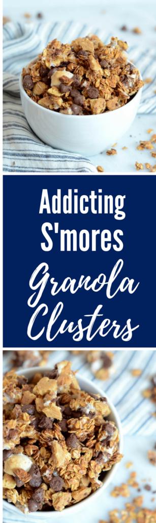 Addicting S'mores Granola Clusters | CaliGirlCooking.com
