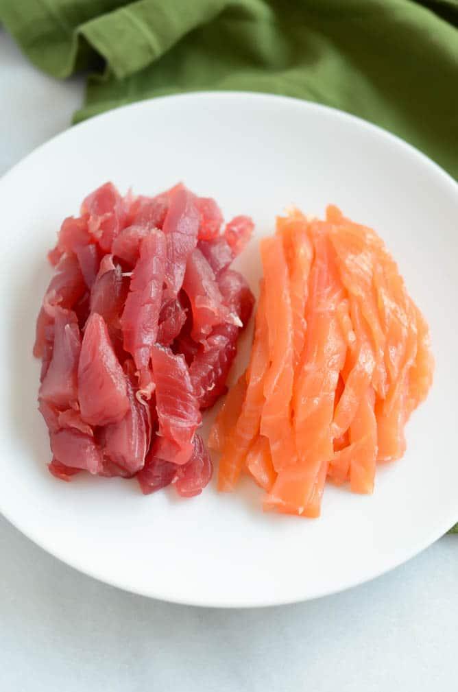 Ahi and Smoked Salmon Sushi-Ritos   CaliGirl Cooking