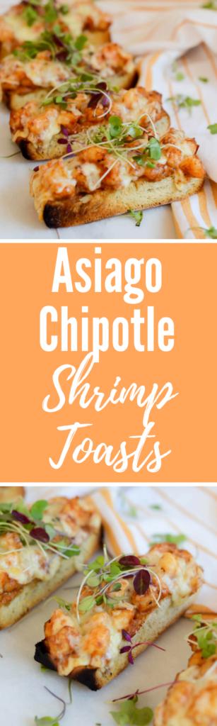 Asiago Chipotle Shrimp Toasts | CaliGirlCooking.com