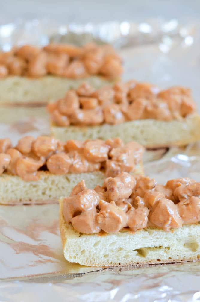 Asiago Chipotle Shrimp Toasts | CaliGirl Cooking