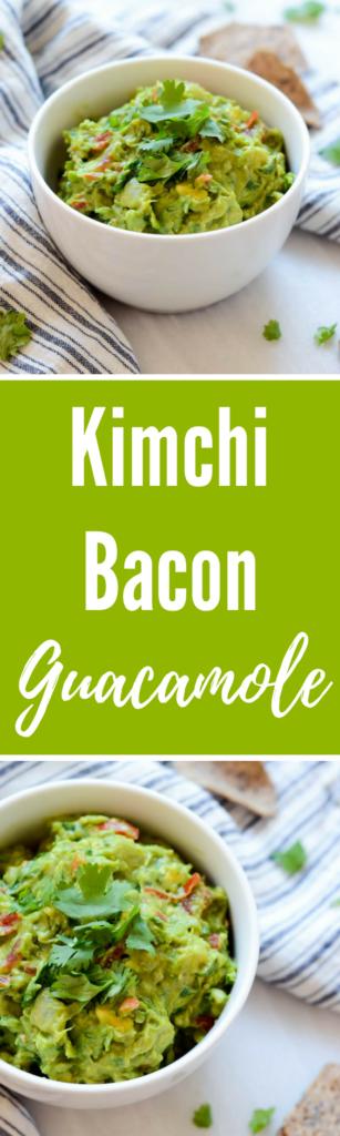 Kimchi Bacon Guacamole | CaliGirlCooking.com