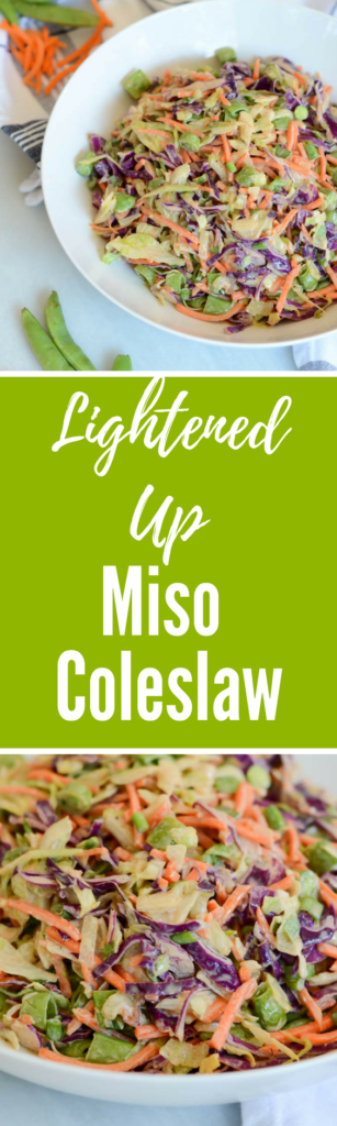 Lightened Up Miso Coleslaw | CaliGirlCooking.com