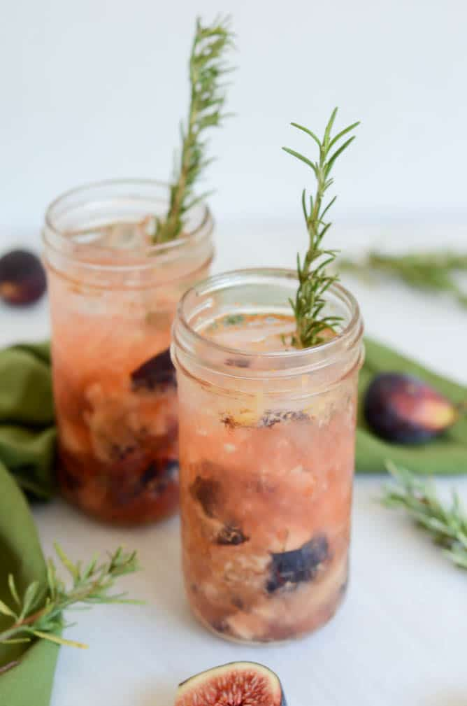 Rosemary, Fig & Date Tequila Smash | CaliGirl Cooking