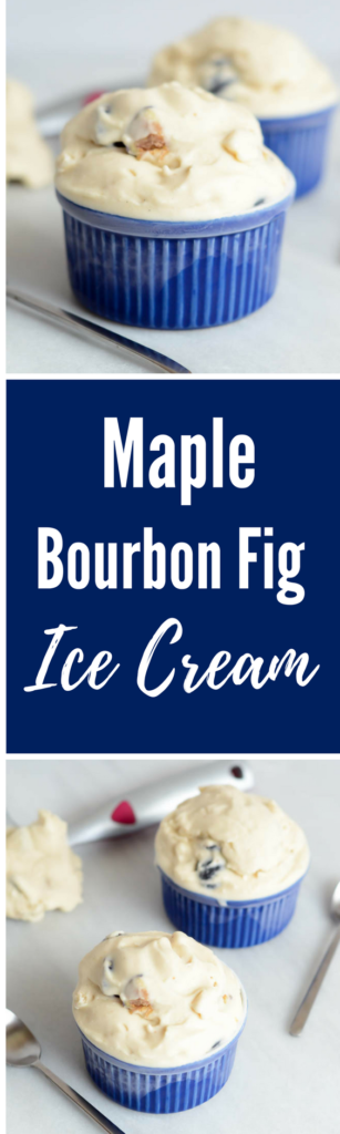 Maple Bourbon Fig Ice Cream | CaliGirlCooking.com
