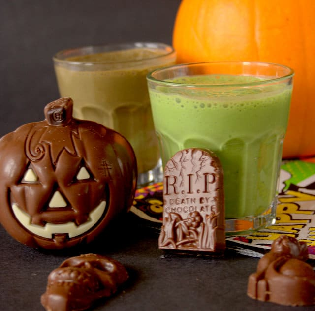 Toxic Swamp Halloween Smoothie by Fuss Free Flavours | 22 Quick & Easy Halloween Recipes at CaliGirlCooking.com