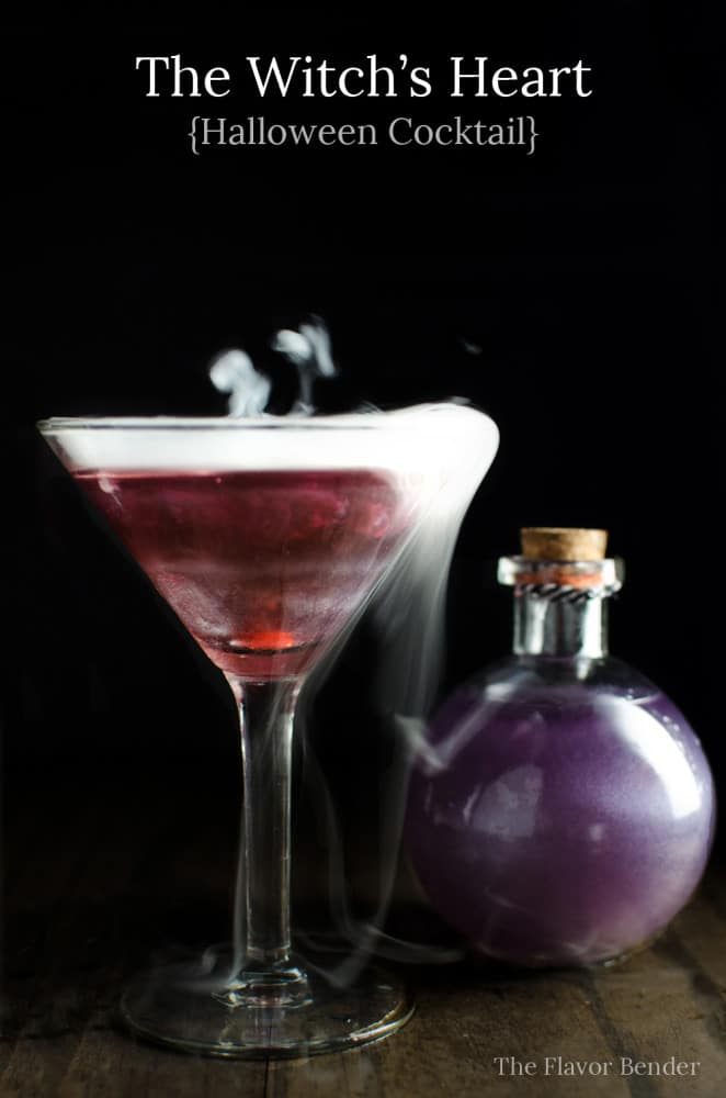 The Witch's Heart by The Flavor Blender | 22 Quick & Easy Halloween Recipes at CaliGirlCooking.com