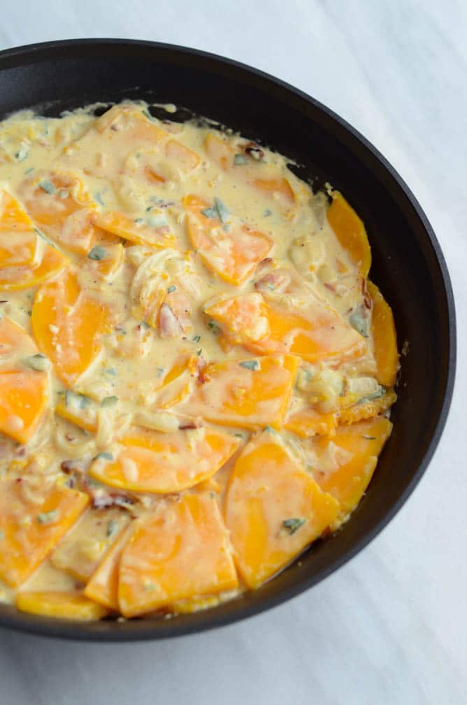 Butternut Squash, Bacon and Goat Cheese Spanish Tortilla   CaliGirlCooking.com