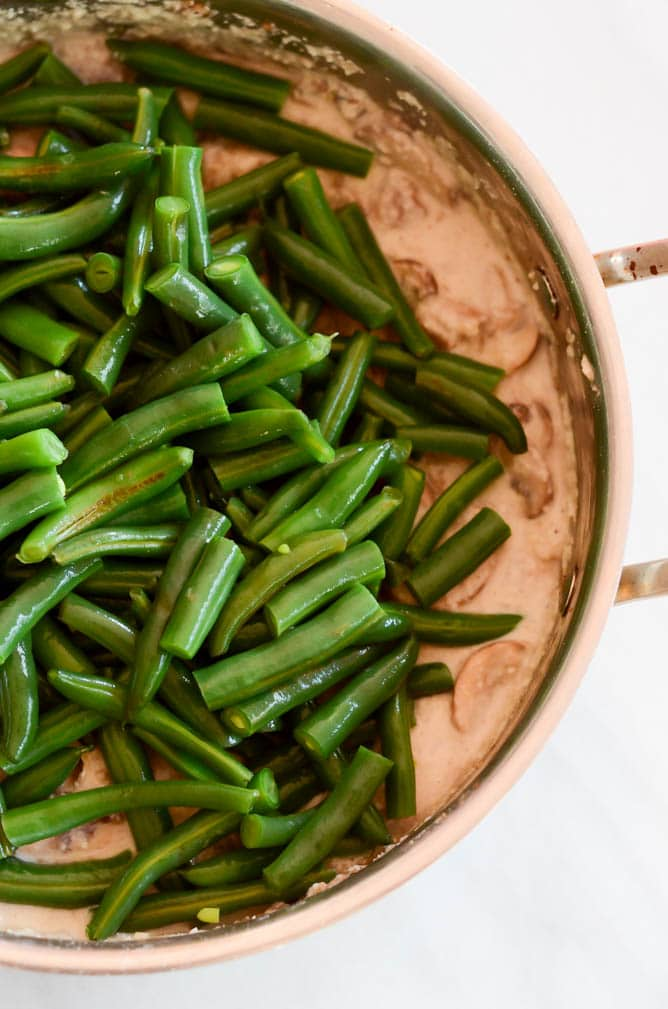... minutes or so. Your Healthy (Vegan) Green Bean Casserole is complete