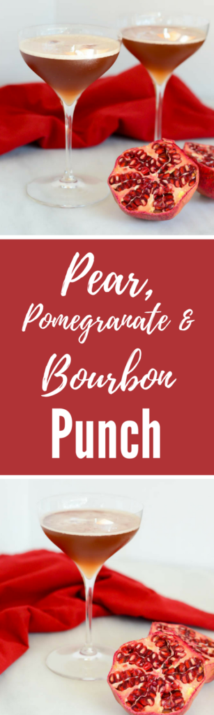 Pear, Pomegranate and Bourbon Punch | CaliGirlCooking.com