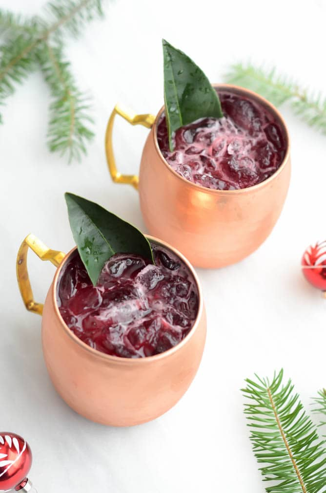 Cranberry Ginger Mule | CaliGirlCooking.com