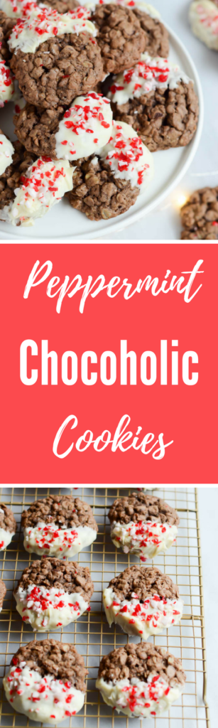 Peppermint Chocoholic Cookies | CaliGirlCooking.com