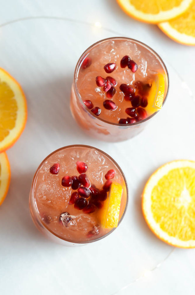 Sparkling Pomegranate Party Punch | CaliGirlCooking.com