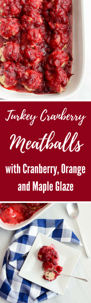 Turkey Cranberry Meatballs with Cranberry, Orange and Maple Glaze | CaliGirlCooking.com