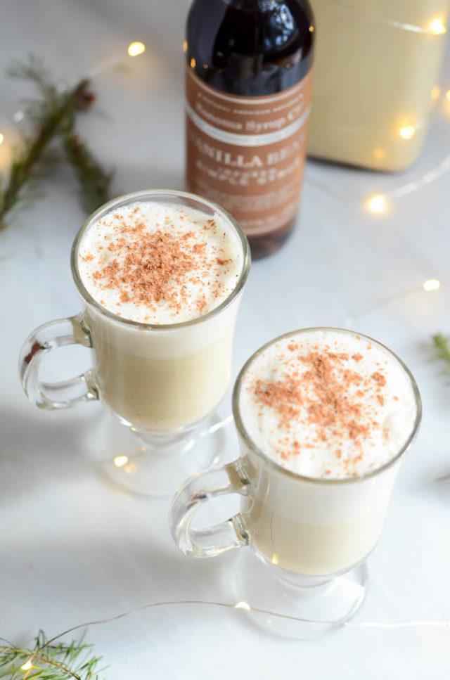 Winter Spiced Vanilla Eggnog | CaliGirlCooking.com