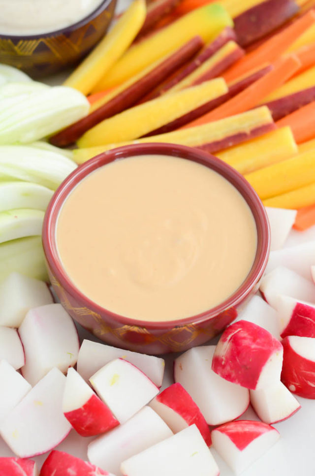 Best EVER Winter Vegetable Platter Thai Peanut Dipping Sauce   CaliGirlCooking.com