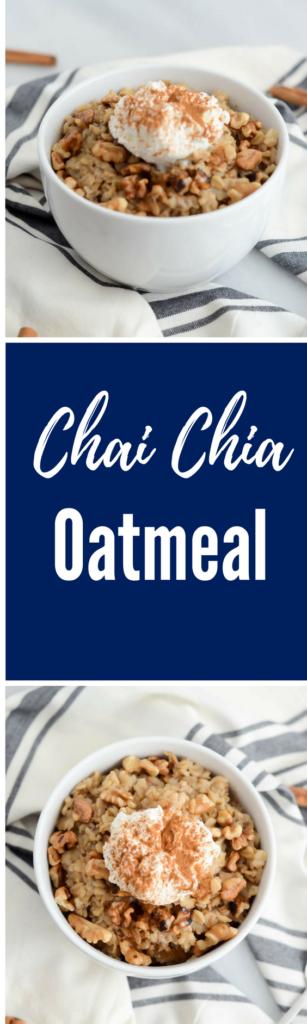 Chai Chia Oatmeal | CaliGirlCooking.com