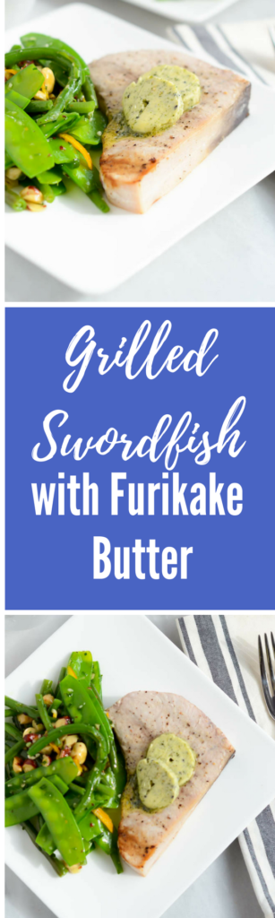Grilled Swordfish with Furikake Butter | CaliGirlCooking.com