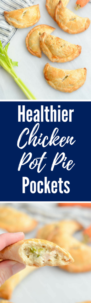 Healthier Chicken Pot Pie Pockets | CaliGirlCooking.com