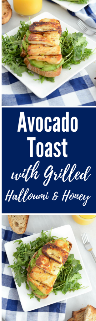 Avocado Toast with Grilled Halloumi and Honey | CaliGirlCooking.com
