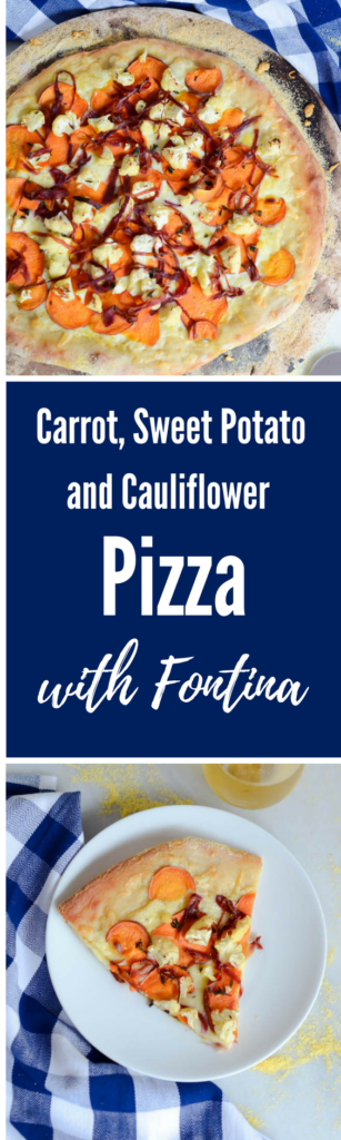 Carrot, Sweet Potato and Cauliflower Pizza with Fontina | CaliGirlCooking.com