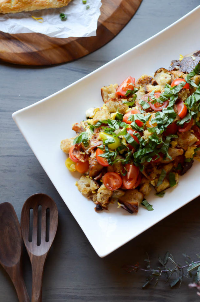 Breakfast Panzanella + a Spring Fling Brunch! | CaliGirlCooking.com