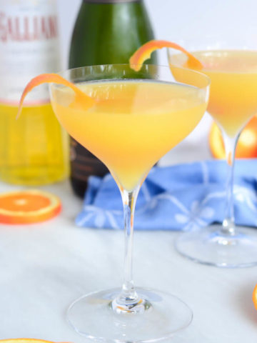 Harvey Wallbanger Mimosa | CaliGirlCooking.com