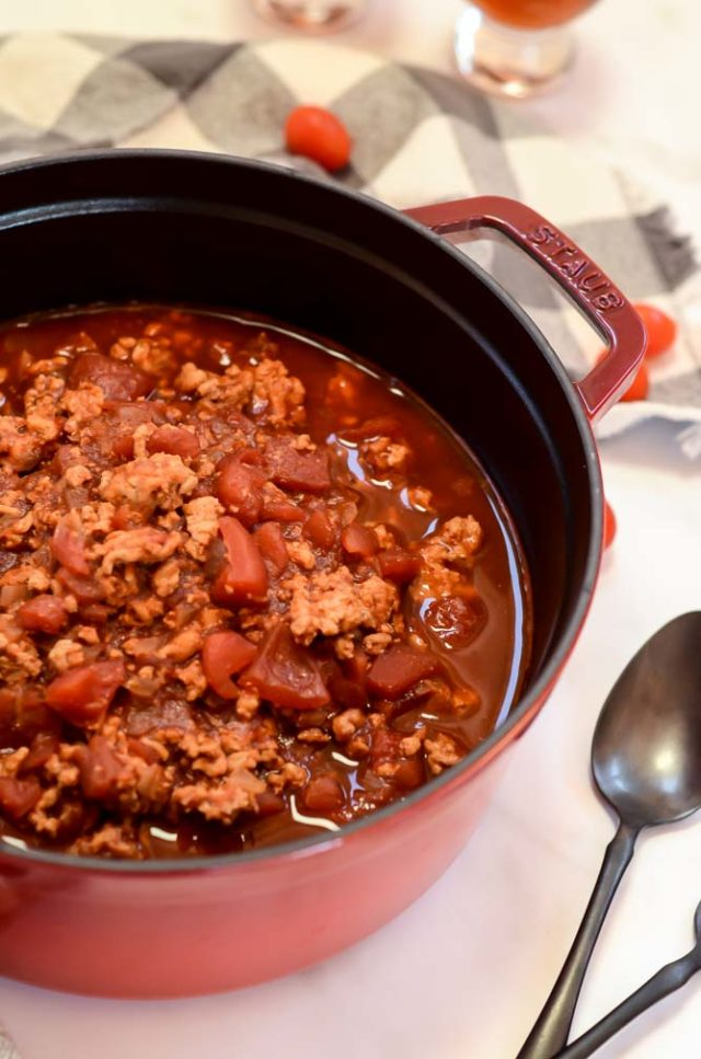 This easy recipe for my Dad's Sweet 'n' Spicy Chili makes the perfect cold weather meal, the ultimate comfort food!