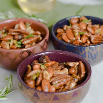 Spiced Rosemary Bar Nuts | CaliGirlCooking.com